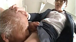 Grandpa eats young japanese twat