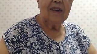 Chinese granny in rainy night california anyone wants to guilla