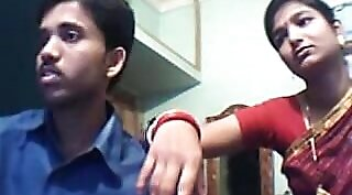 Couple filmed with young boy webcam