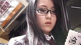 Japanese schoolgirl krissy gets wet