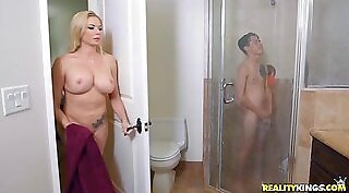 Young step mom gets fucked in my old age house