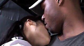 Sweet asian ebony interracial bang and facial squirt