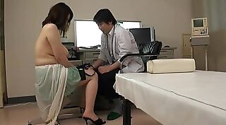 Busty Japanese babe gets nailed by a horny guy in the hospital