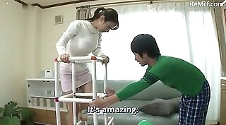 Busty japanese cronys wife fucked by younger guy in arousing vid