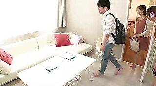 Asian with long hair teasing on web cam