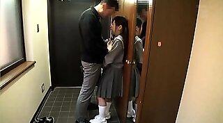 Hardcore sex with naughty Asian schoolgirl Korowa