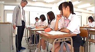 Petite Japanese Schoolgirl fucks Teacher