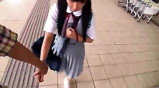 cute schoolgirl shaved pov