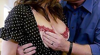 Amazing Asian hottie with big tits sucks reverse