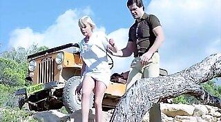 Brigitte Lahaie striptease with loud sex. Second time on cam