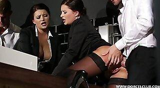 Young gym secretary masturbates