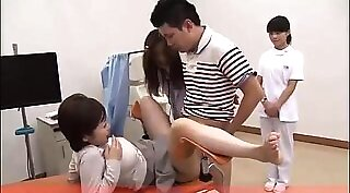 Babe organizes sex in tiny sexya office with Dr. Mercies and the doctors
